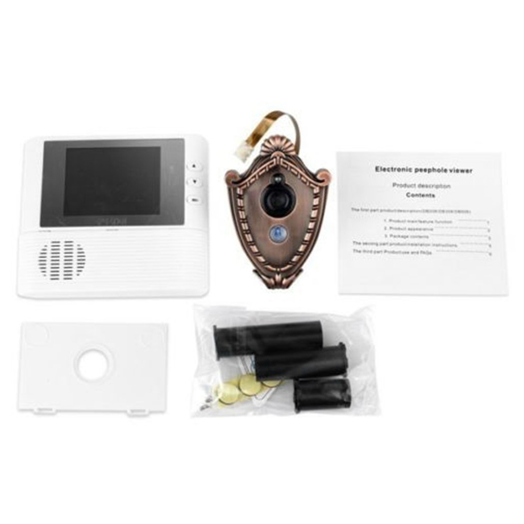 Peephole Camera Doorbell Night Vision Screen Viewer Security Surveillance Home Security Camera LCD Doorbell Camera 11 * 9 * 10cm 2 4 inch doorbell peephole viewer lcd screen multifunction security camera 120 degree angle view