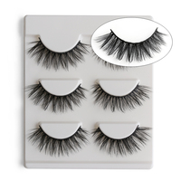 3 Pairs 3D Thick False Eyelashes Natural Make up Dense Multi-Layer Long Eye Lashes Extension Tools Beauty Makeup Cosmetics False Eyelashes