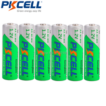 6 x PKCELL NIMH AA rechargeable battery 2200MAH 1.2V NI-MH Battery Low Self Discharger Batteries flashlight battery