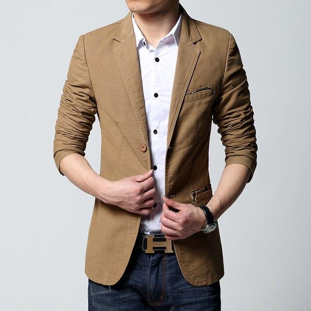 928b3e0301a Mens casual blazer and jacket new korean fashion style 2019 black khaki  brown slim fit hot sale mens jacket
