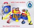 Brinquedos Filhote de Patrulha Canina Patrulla Pneus Modelo de Estacionamento do Centro de Comando conjunto Figuras Boneca Com Dois Carros Carro Aleatório Crianças Melhor presente