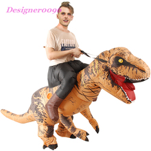 Jurassic World Tyrannosaurus Rex Cosplay Costume Cartoon Doll Clothes Halloween Party Adult Inflatable Suit Tyrannosaurus Mount cosplay halloween party game adult children inflatable suit tyrannosaurus rex dinosaur inflatable clothes show props