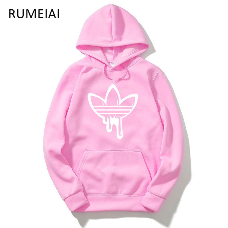 RIMEIAI Men Hoodies 2018 New Design Male Solid Casual Fleece Sweatshirt Mens Slim Fit Print Funny Brand Hoodies Mens Coat