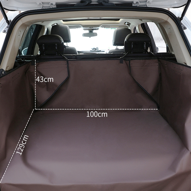 Pet Dog Car Seat Covers Solid Waterproof Dog SUV Back Seat Carrier Travel Accessories 600D Oxford Car Trunk Mat Seat Protector 1