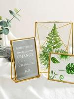Nordic Metal Photo Frame Photo Frame Portrait Free Stand for Wedding Living Room Desktop Decoration Gifts 5 6 7 Inch