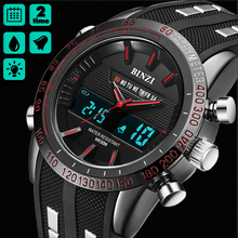 2017 BINZI New Hot Watches  Luxury Brand Analog Men Military Watch Men Quartz Silicone BINZI Male Outdoor Sports Watches все цены