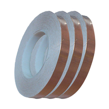 цена на 1pcs 30 Meters Single Side Conductive Copper Foil Tape Strip Adhesive Shielding Heat Resist Tape 3mm 5mm 6mm New