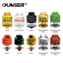 Authentic OUMIER WASP NANO RDTA Tank 2ml 22mm Diameter Atomizer Easy Building Deck & Adjustable Airflow System for E-cigarette