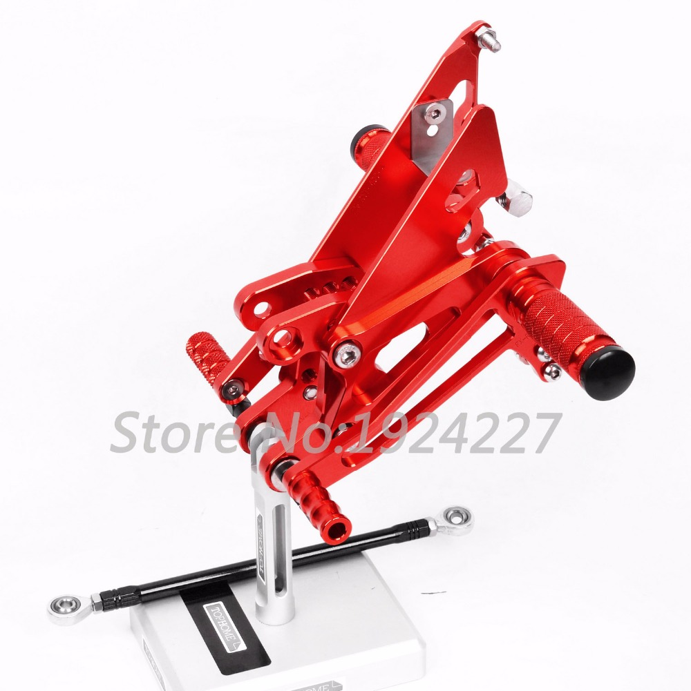 8 Colors CNC Rearsets For Honda NC30 RVF400 NC35 All Years Rear Set Motorcycle Adjustable Foot Stakes Pegs High-quality Pedal