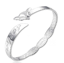 Women/Lady's Forever love you Cute Fox Pattern Silver Plated Bracelets & Bangles Fashion Jewelry Gifts E5422a