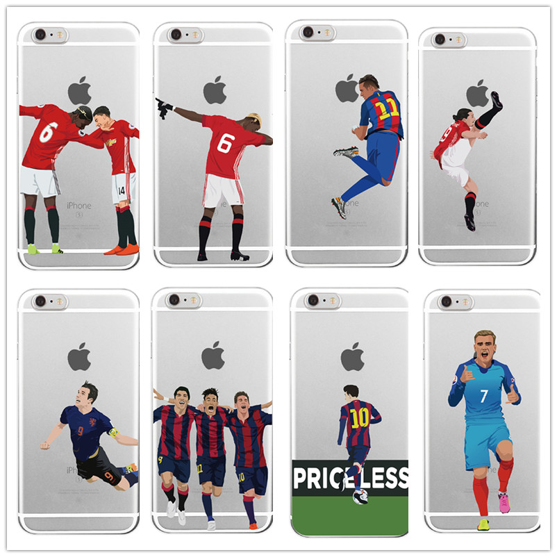 Sport Football Soccer Star Griezmann Cristiano Ronaldo Messi Benzema Cases For iPhone 5 5C SE 6 6plus 7 Hard plastic Cover