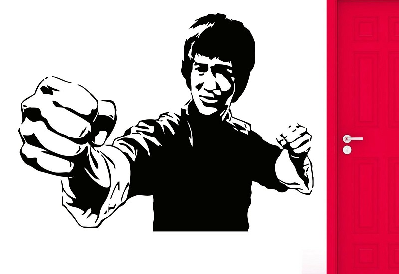 Wall Sticker Movie Star Jackie Chan Martial Arts Karate Cool Decoration, Home Living Room Wall Sticker QJ26 image