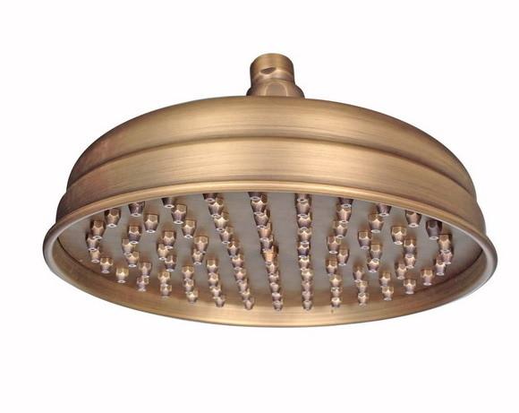 Antique Brass 8 inch Round Bathroom Rainfall Shower Heads Csh022 in Shower Heads from Home Improvement