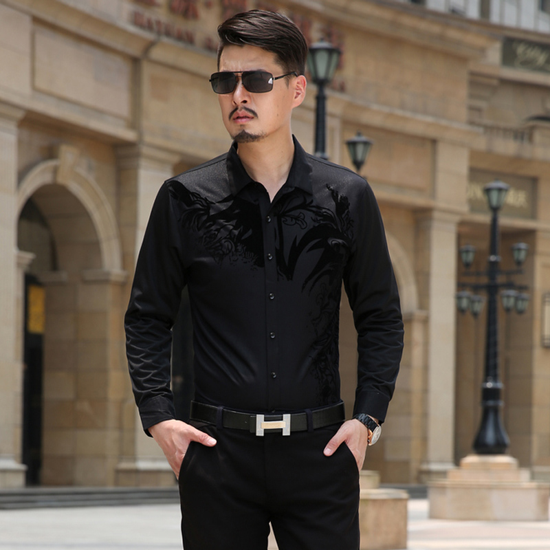 Online Get Cheap Black Slim Fit Dress Shirt -Aliexpress.com ...