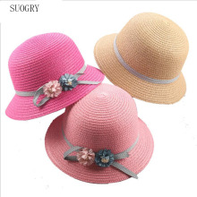 SUOGRY 2018 New Summer Womens Beach Sun Cap Stylish Straw Hat For Women Protection UV Flowers Hats Girls Hot
