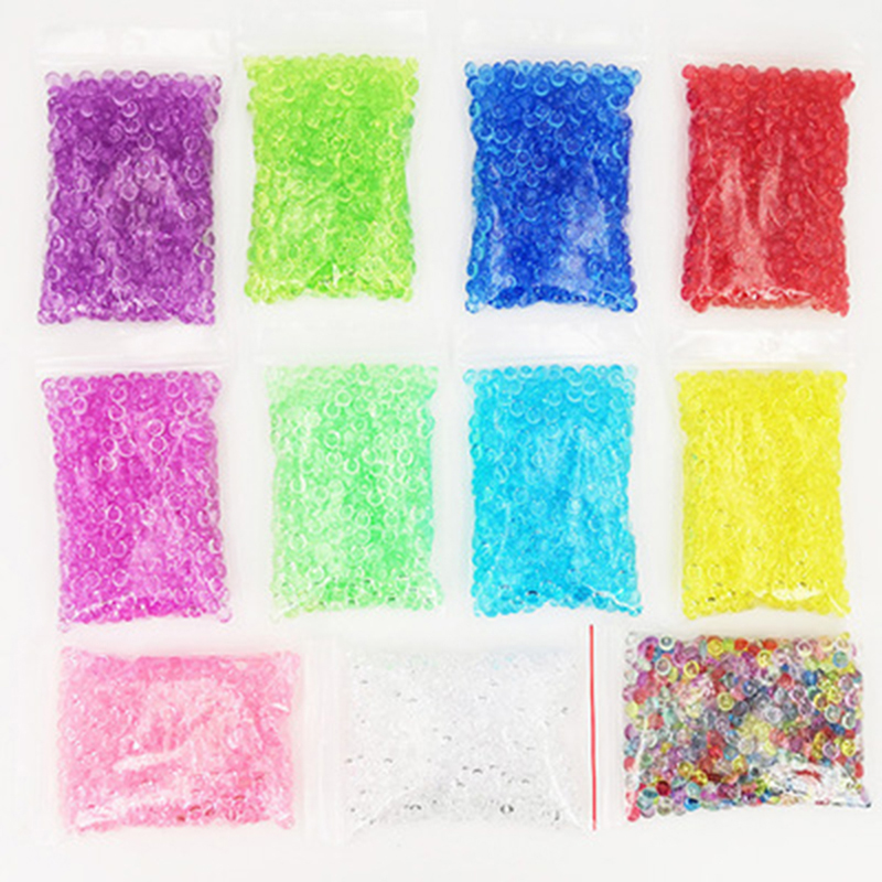 Learning & Education 6 Color Diy Clear Slime Flat Beads Transparent Handmade Crystal Mud Mixture Particles Beads Slime Filling Decoration Modeling Clay