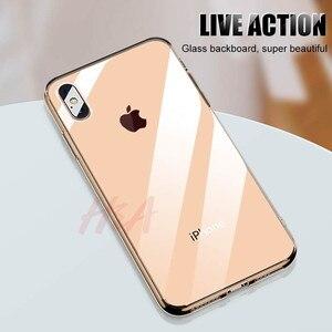 Image 2 - H & A 高級 Iphone XS 最大 XR × ケース超薄型透明な背面ガラスカバーケース iphone XS 最大クリア Coque