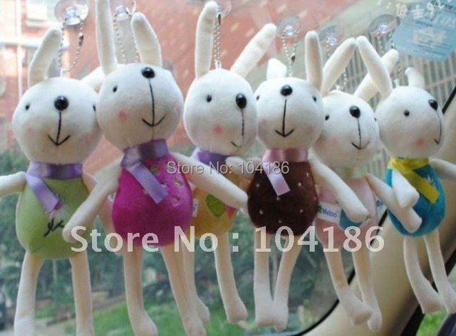 24PCS Kawaii Long Metoo Rabbit Size 22CM Approx. Plush Stuffed TOY, Soft Figure TOY DOLL , Sucker Design CAR & Room Pendant TOY