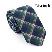 Tailor Smith Top Quality 100 Cotton Plaid Necktie Mens Casual Party Check Slim Ties Tartan Cravat