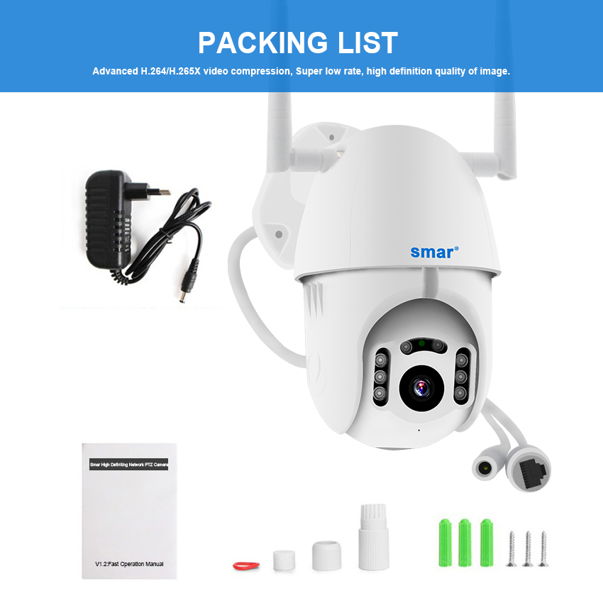 Image 5 - Smar 1080P Cloud Storage Wireless PTZ IP Camera Speed Dome CCTV Security Cameras Outdoor ONVIF Two Way Audio P2P Camera WIFI-in Surveillance Cameras from Security & Protection