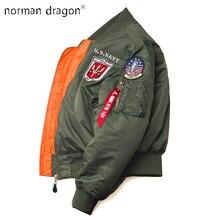 2019 kış Vintage Top Gun streetwear hip hop askeri mont giyim letterman punk bombacı uçuş hava kuvvetleri pilot ceket erkekler
