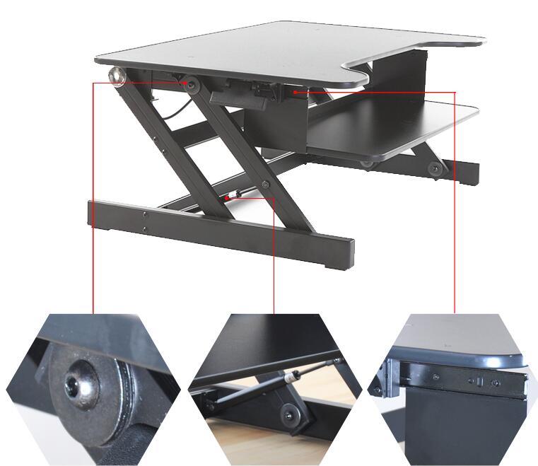 Standing Desk Stand Up Adjustable Desk Riser Converter Desktop Laptop Dual  Monitor Home Office Furniture Laptop Table 95cm Wide In Laptop Desks From  ...