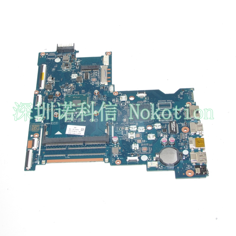 NOKOTION Original 816812-501 816812-001 Laptop Motherboard For HP 15-AC ABQ52 LA-C811P SR29E N3700 CPU Mainboard Full works nokotion 809986 601 809986 001 laptop motherboard for hp pavilion 17 p day21amb6d0 a10 7050m cpu ddr3 mainboard full works