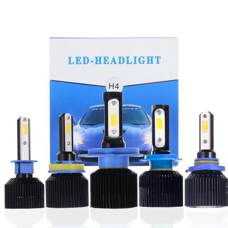 2pcs lot D3 automobile LED headlamp H4 H7 H8 H11 9005 9006 72W 8000LM Integrated Headlamp