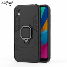 For Huawei Y5 2019 Case, Honor 8S Car Holder Armor Cases Hard PC & Soft Silicon Cover for AMN-LX9 AMN-LX1 Wolfsay