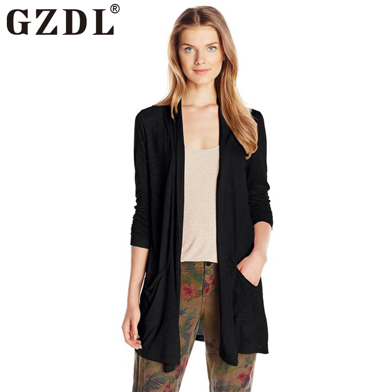 GZDL Spring Autumn Cardigan Women Long Sleeve Loose Thin Boyfriend ...