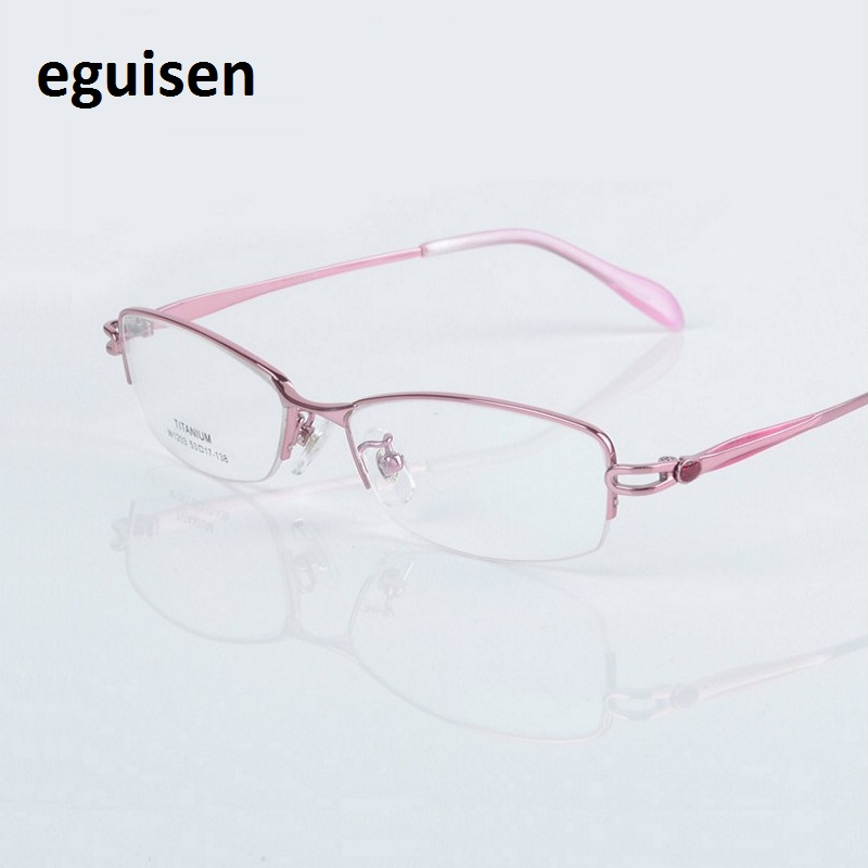 53 17 138 font b Fashion b font ultra pure titanium frame glasses with optical myopia