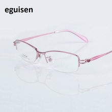 53-17-138 Fashion ultra pure titanium frame glasses with optical myopia glasses W1203 glasses women optical Free shipping