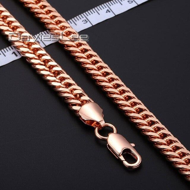 18 - 36 polegada 5 / 7 / 8 MM Curb cubano cadeia colar de ouro cheio colar homens colar de mulheres cadeia de moda jóias DLGN162 / 163