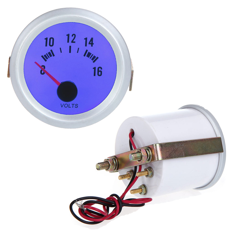 online get cheap voltmeter gauge aliexpress com alibaba group voltage meter gauge voltmeter for auto car 2 52mm 8~16v blue led light