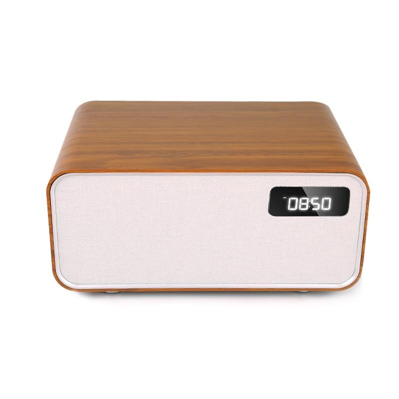 Sounderlink Neus Retro madera inalámbrica Bluetooth Smart TV de cine en casa de Casa altavoz boombox dormitorio reloj HiFi calidad de sonido - 3