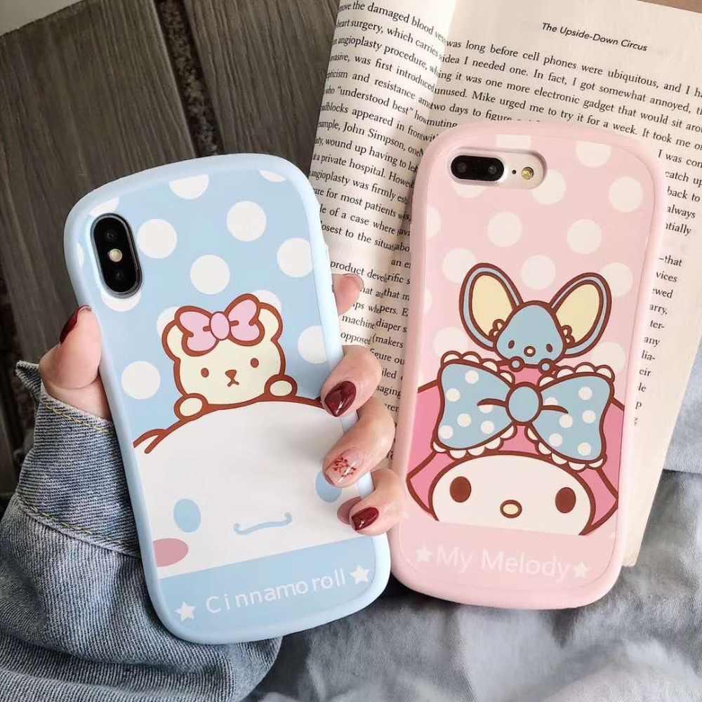Tampa Do caso para o iphone X XR XS max 7 7 Plus 8 8 plus 6 6 S Plus Super Bonito 3D animal Bonito Dos Desenhos Animados gato Melodia urso caixa Do Silicone Macio