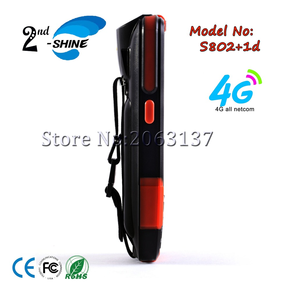 2Shine S802 Handheld Bluetooth Wireless/USB 4G PDA Barcode Scanner Reader, 1D Barcode Scanner