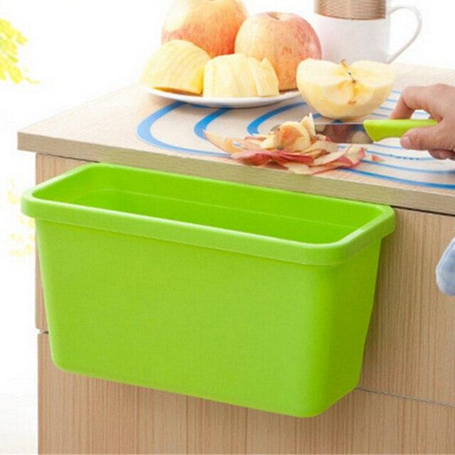 Garbage Holder Portable Cabinet Kitchen Square Portable Mini Trash