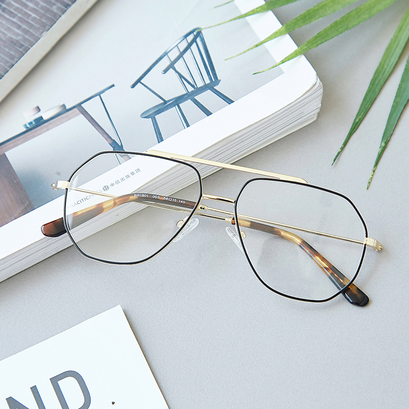 e482ee7a12b Metal 2018 Retro Eye Glasses Frames Double Bridges For Women Men Celebrity  Spectacles Transparent Eyeglasses Frame-in Eyewear Frames from Apparel ...