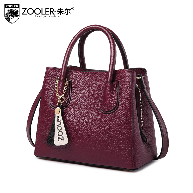 hot new &hot woman leather bag elegant style ZOOLER 2018 genuine leather bags handbag women famous brand bolsa feminina # Y106 hot