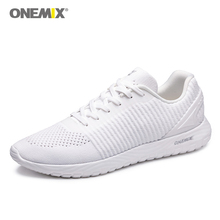 ONEMIX Light Running Shoes Couple Sport Sneakers Outdoor Men Sports Jogging Shoes Summer Breathable Mesh Outdoor Walking Shoes onemix women s running shoes breathable sports sneakers vamp outdoor jogging shoes light female walking sneakers in blue