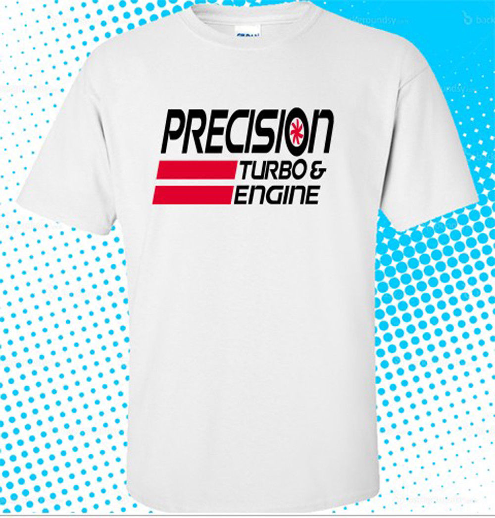Newest Funny New Precision Turbo and Engine Logo Mens White T shirt size S to 3XL Hipster O-neck cool tops