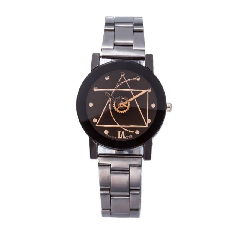 b2824021f5dc6 Moda de Luxo Homens Mulheres Relógio Bússola Aço Inoxidável Quartz  Analógico Relógio de Pulso