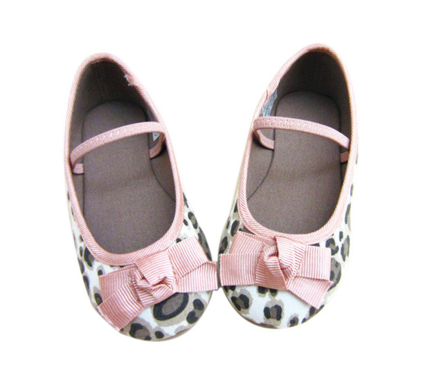 Girls Leopard Shoes ZA Super Soft Baby Girls Shoes Anti Slide Outsole Girls  Party Bow Knot Shoes Good Breathabiliry Dance Shoes a10075869