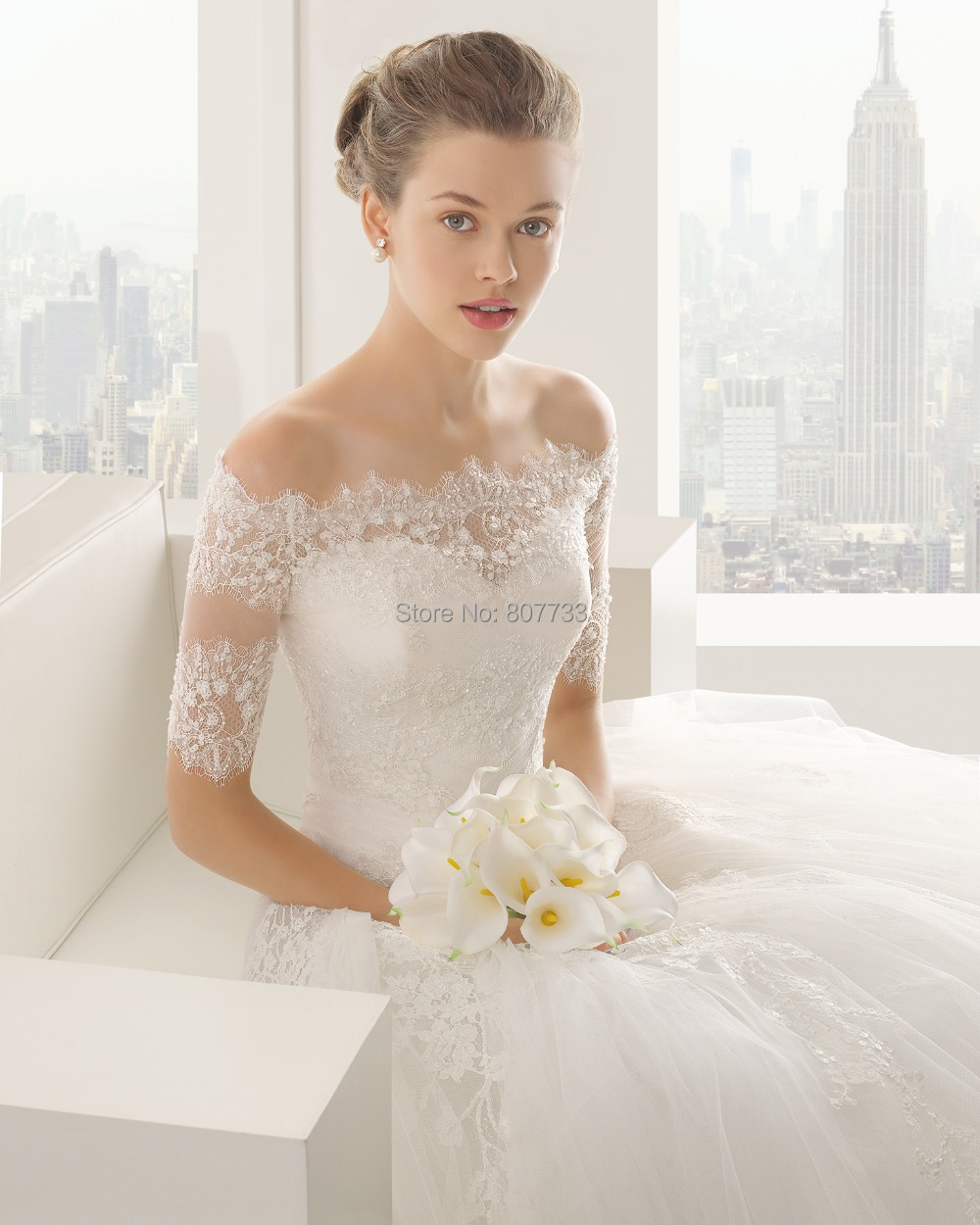 Aliexpresscom Buy CY4270 Off the Shoulder White Lace Ball Gown