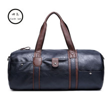 KUNDUI New Arrival PU Leather Handbags For Men Large-Capacity Portable Shoulder Bags Men's Travel Handbag School bag Hit color