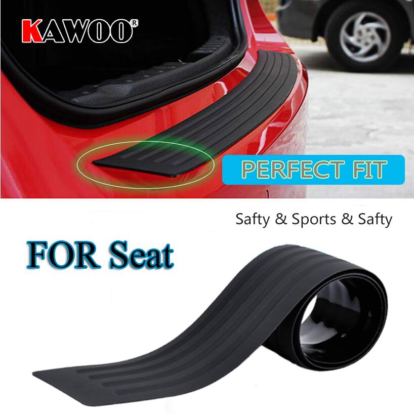 KAWOO For SEAT Altea Exeo Altea XL Mii Ibiza Leoni Alhambra Rubber Rear Guard Bumper Protect Trim Cover Sill Mat Pad Car Styling