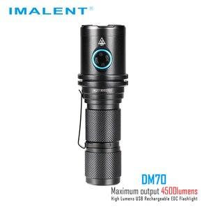Image 3 - IMALENT DM70 linterna CREE XHP70.2 max 4500 lumen distancia de haz 306 metros antorcha de mano + 21700 5000mAh batería recargable