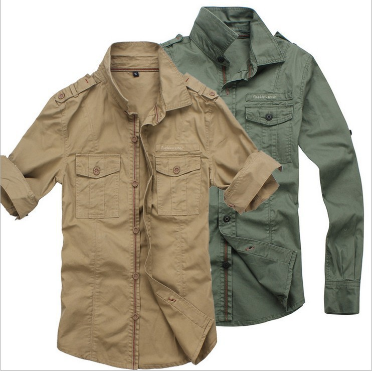 Khaki Green Mens Shirt | Is Shirt