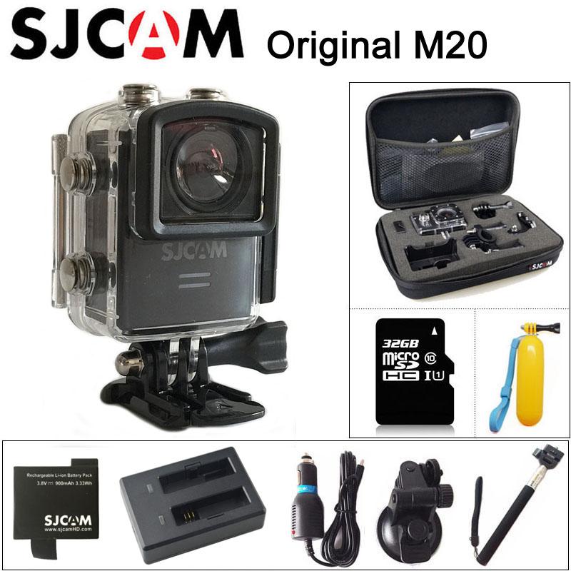Prix pour D'origine sjcam m20 sport action caméra 4 k wifi sj cam sous-marine Gyro Mini Caméscope 2160 P HD 16MP Avec Format RAW Étanche DV